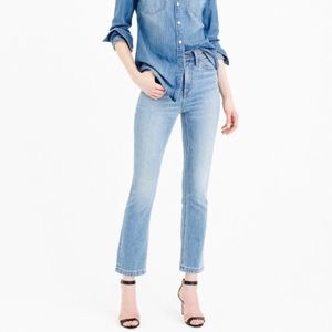 J. Crew Billie demi boot crop jean in Surrey wash